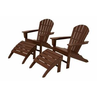 Polywood South Beach 4 Piece Adirondack Set - Finish: Mahogany at Sears.com