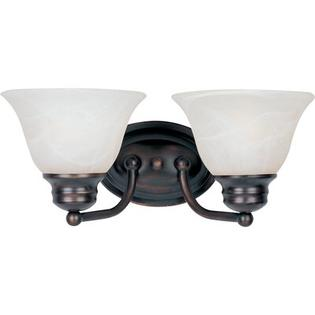 Maxim Lighting Malibu  Vanity Light - Finish/Shade Color: Marble/Polished Brass at Sears.com