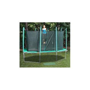 KIDWISE 9 x 14 ft. Rectagon Trampoline with Enclosure - Pad Color: Green/Purple/Yellow at Sears.com