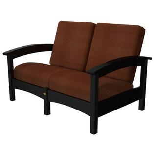 Polywood Trex Outdoor Rockport Club Settee - Color: Charcoal Black / Chili at Sears.com