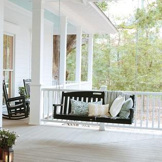 Polywood Trex Outdoor Yacht Club Porch Swing with Cushion - Color: Rainforest Canopy at Sears.com