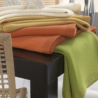Zambaiti Primrose Pure Cashmere Basket Weave Blanket - Size: Queen, Color: Lime at Sears.com