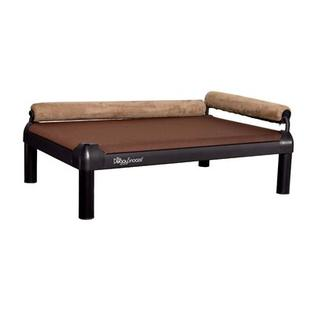 DoggySnooze SnoozeLounge Dog Bed w/ Long Legs &amp; a Black Anodized Frame -Size:lg (28&amp;#34; Lx44&amp;#34; W), Color:Chocolate, Bolster Color:Red at Sears.com
