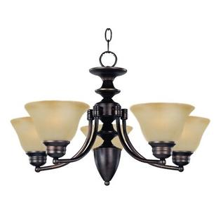 Maxim Lighting Malibu 5 Light Up Chandelier - Finish: Marblewith Oil Rubbed Bronze Shade at Sears.com