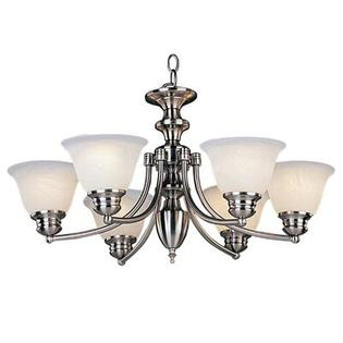 Maxim Lighting Malibu 6 Light Chandelier - Finish: Marblewith Satin Nickel Shade at Sears.com