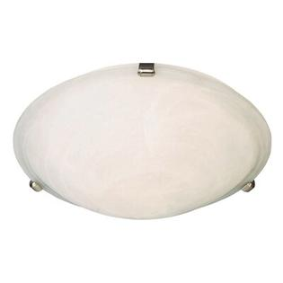 Maxim Lighting Malibu 3 Light Flush Mount - Finish / Shade Color: Marble/Satin Nickel at Sears.com