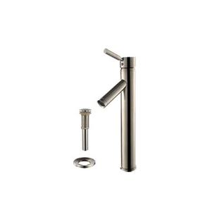 kraus Square Clear Aquamarine Glass Sink and Sheven Faucet - Faucet Finish: Satin Nickel at Sears.com
