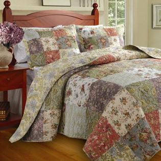 Greenland Home Fashions Blooming Prairie Bedspread Set - Size: Queen at Sears.com