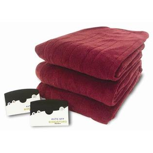 Biddeford Blankets Knit Microplush Warming Blanket with Digital Controller - Size: Full, Color: Brick at Sears.com