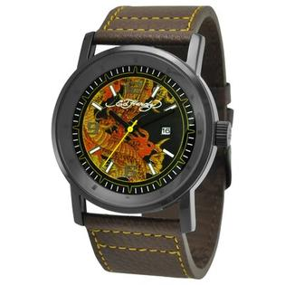 Ed Hardy Men&#039;s Kombat Dragon Watch in Brown at Sears.com