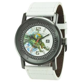 Ed Hardy Men&#039;s Kombat Panther Watch in White at Sears.com