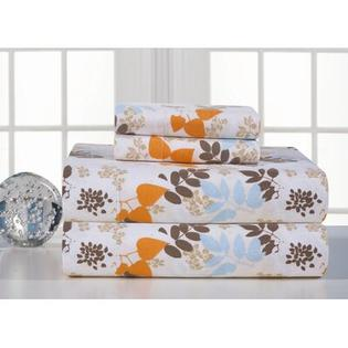 Pointehaven Heavy Weight Printed Flannel Sheet Set in Winter Breeze - Size: Twin Extra Long at Sears.com