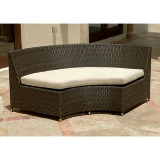 Source Outdoor Circa Round Sofa with Cushions - Color: Sunbrella Glacier at Sears.com