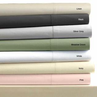 Tribeca Living Egyptian Cotton 600 Thread Count Solid Duvet Cover Set - Size: Queen, Color: Meadow Green at Sears.com