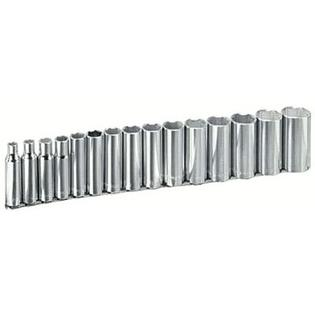 Armstrong Tools 15 Piece 1/2&amp;#34; Dr. Deep Socket Sets - 15 pc 6 pt deep 1/2&amp;#34; dr.socket set at Sears.com