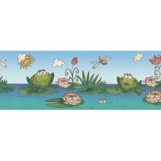 BREWSTER HOME FASHIONS Kidding Around Frog Wall Border at Sears.com