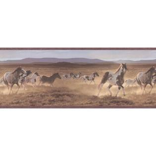 BREWSTER HOME FASHIONS Northwoods Wild Horses Wall Border at Sears.com