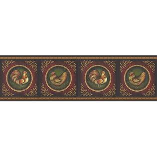 BREWSTER HOME FASHIONS New Country Rooster Cameo Wall Border at Sears.com