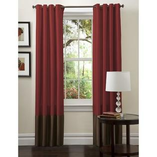 Lush Decor Prima Panel Pair in Red / Chocolate - Size: 95&amp;#34; H x 54&amp;#34; W at Sears.com
