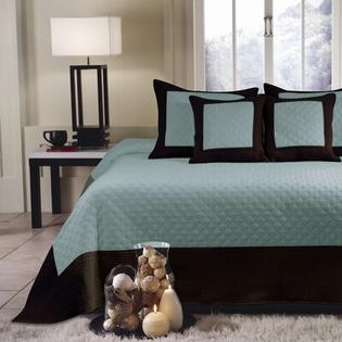 Greenland Home Fashions Brentwood Bedspread Set - Size: Queen, Color: Blue Surf at Sears.com