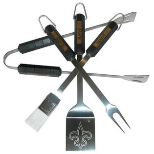 Siskiyou Products NFL 4-Piece BBQ Grill Tool Set - NFL Team: New Orleans Saints at Sears.com