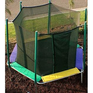 KIDWISE 12 ft. Hexagon Trampoline with Enclosure - Pad Color: Green/Purple/Yellow at Sears.com