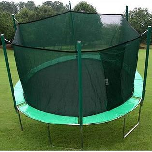 KIDWISE 13.5 ft. Round Trampoline with Enclosure - Pad Color: Green/Purple at Sears.com