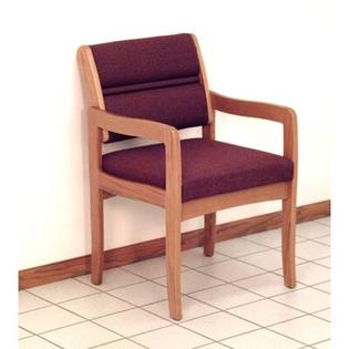 Wooden Mallet Valley Standard Leg Guest Chair - Wood Finish: Medium Oak, Fabric: Foliage Green, Arms: Not Included at Sears.com