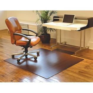 Anji Mountain Bamboo Standard Hard Floor Rounded Edge Chair Mat - Size: 44&amp;#34; x 52&amp;#34;, Color: Dark Cherry at Sears.com