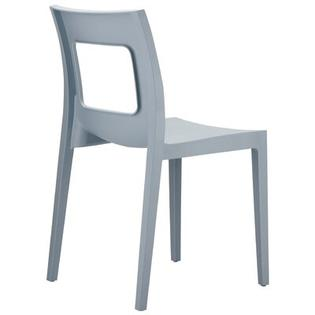 Compamia La Plaza Lucca Stacking Dining Side Chair  - Finish: Silver (Set of 2) at Sears.com