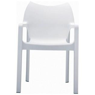 Compamia Diva Stacking Dining Arm Chair  - Finish: White (Set of 4) at Sears.com