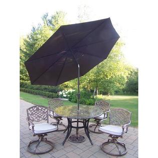 Oakland Living Stone Art 5 Piece Swivel Dining Set with Umbrella at Sears.com