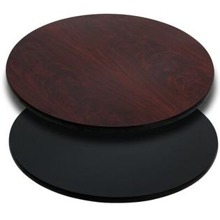 FlashFurniture Round Reversible Laminate Table Top - Finish: Black or Mahogany, Quantity: Set of 30, Size: 36&amp;#34; Round at Sears.com