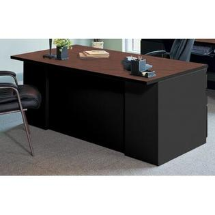 Mayline CSII 2 Pedestal Executive Desk - Finish: Black/ Crown Cherry, Pedestal: 2 Box/Box/File, Width: 66&amp;#34; at Sears.com
