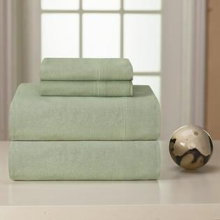 Pointehaven Heavy Weight Solid Flannel Sheet Set - Size: Queen, Color: Sage at Sears.com