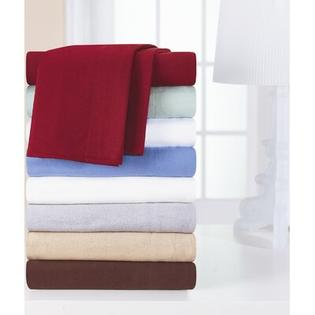Pointehaven Heavy Weight Solid Flannel Sheet Set - Size: Full, Color: Merlot at Sears.com