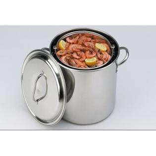 King Kooker&amp;reg; Stock Pot and Basket with Lid - Size: 22 Quart at Sears.com