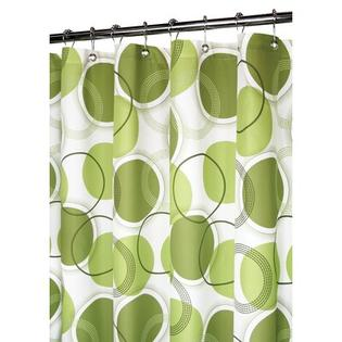 Watershed Circle Central Shower Curtain in White / Green at Sears.com