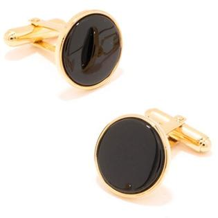 Ox and Bull Gold and Onyx Cufflinks at Sears.com