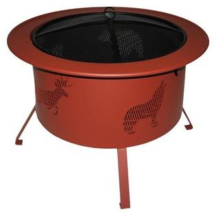 Buck Stove Round Fire Pit with Wildlife Pattern - Color: Red at Sears.com