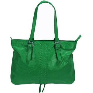 Latico Leathers Henrietta Mimi in Memphis East/West Expandable Tote - Color: Metallic Gray at Sears.com