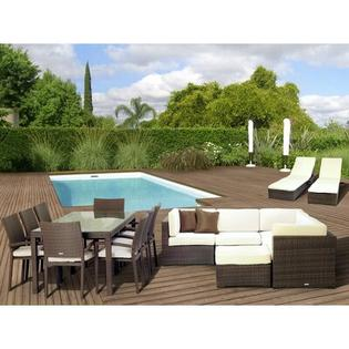 International Home Miami Atlantic 17 Piece Deep Seating Group with Cushions at Sears.com