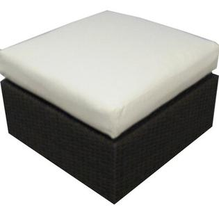 Source Outdoor Manhattan Ottoman with Cushion - Fabric: Off-White at Sears.com