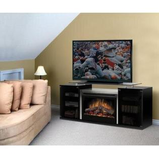 Dimplex Marana 76&amp;#34; TV Stand with Electric Fireplace - Finish: Black - Wood Burning Bed at Sears.com
