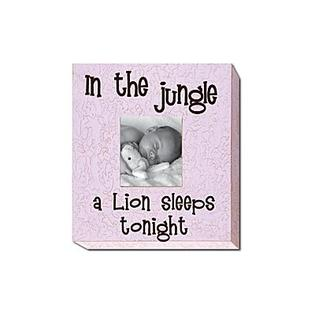 Forest Creations In the Jungle a Lion Sleeps Tonight Picture Frame - Color: Pastel Purple at Sears.com