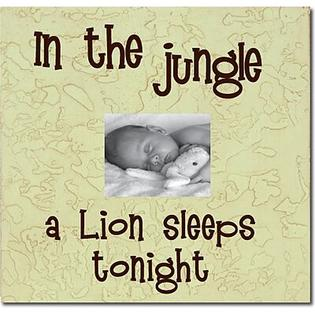 Forest Creations In the Jungle a Lion Sleeps Tonight Child Frame - Color: Pastel Green at Sears.com