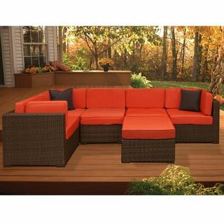 International Home Miami Aventura 6 Piece Deep Seating Group with Cushions - Fabric: Grey at Sears.com