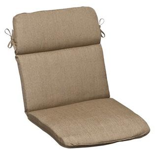 Pillow Perfect Outdoor Rounded Sunbrella Fabric Chair Cushion - Color: Tan Textured Solid at Sears.com