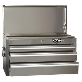 Viper Tool Storage 26&amp;#34; 3 Drawer Top Chest - Color: Stainless Steel at Sears.com