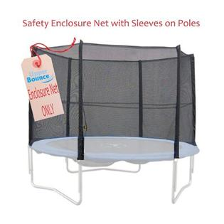 Upper Bounce 12&#039; Trampoline Enclosure Safety Net Fits for 12 FT. Rnd Frames using 4 Straight Poles, Installs Outside of Frame (Poles Not Incl at Sears.com